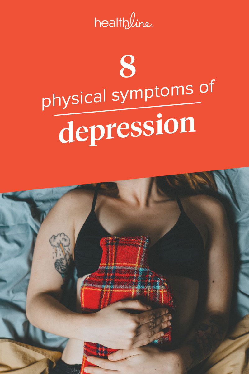 Depression hurts right down gut