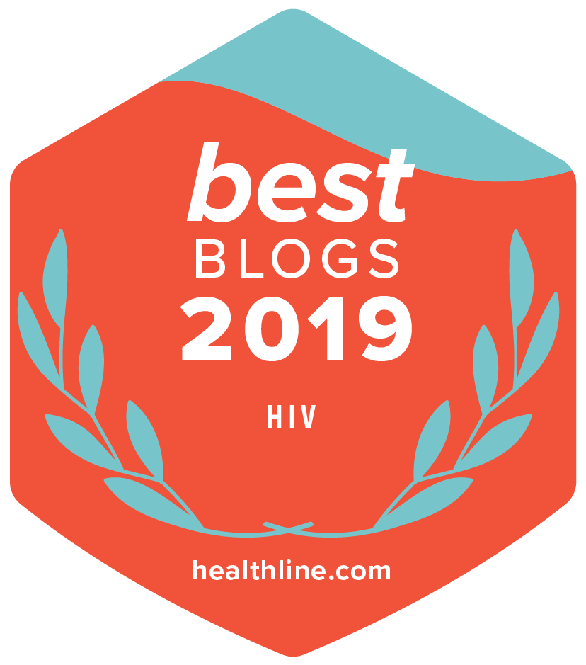 healthline.oom Best of Blogs HIV 2019 badge