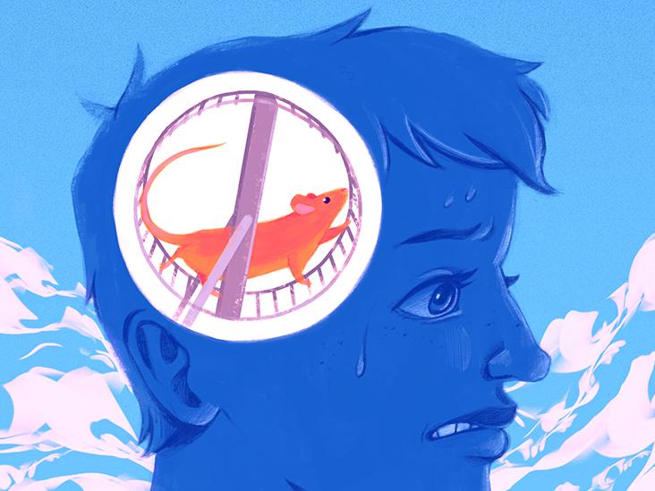 My Anxiety Makes My Brain Feel Like a Broken Hamster Wheel