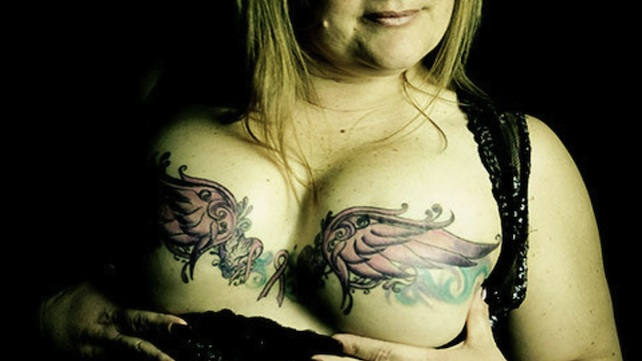 Sexy tit tattoo