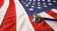 flag and stethoscope