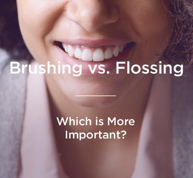 brushing vs flossing