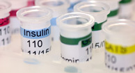 clear insulin vials