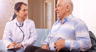 doctor talking to patient about digestive health