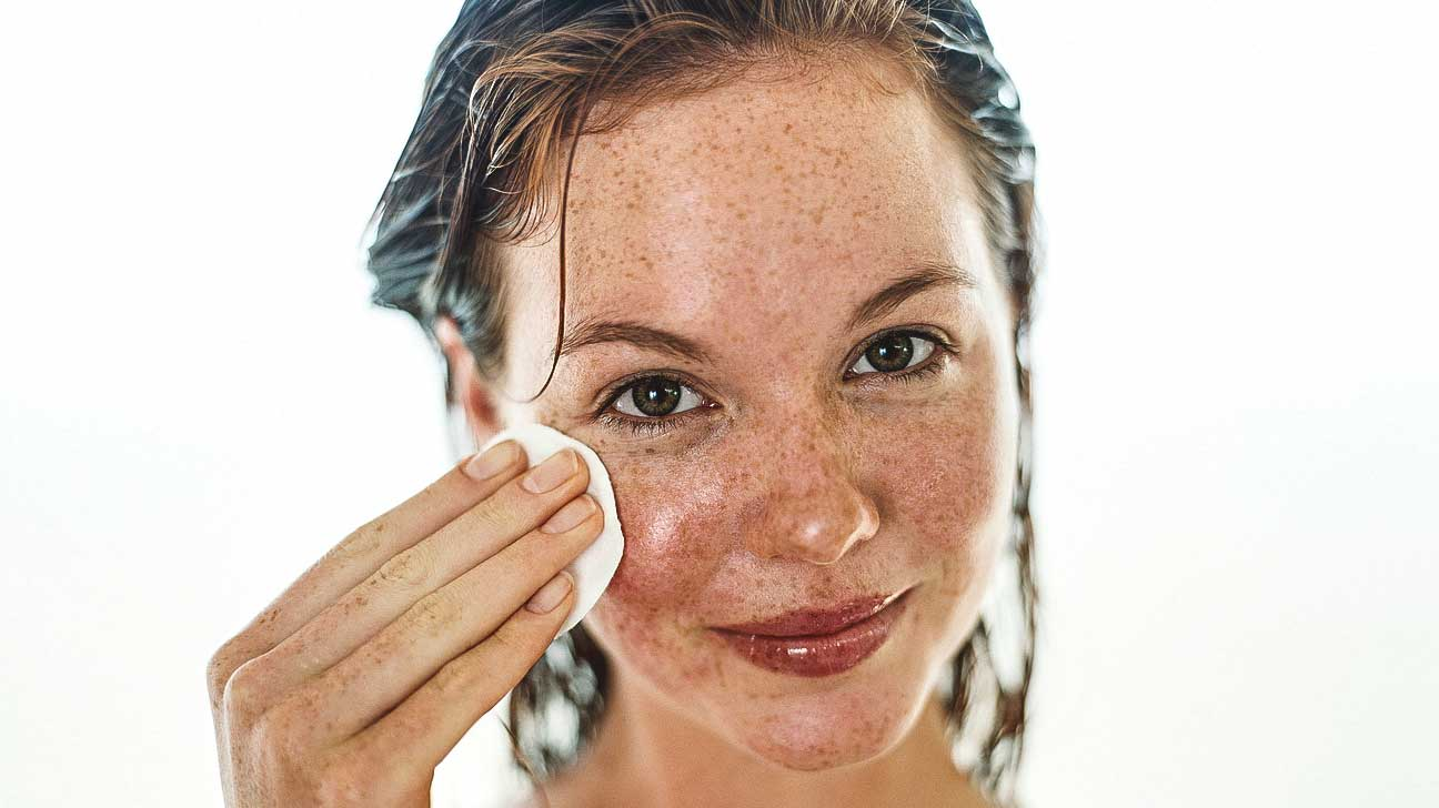 Dry cracked peeling skin on face