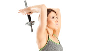 woman working out her triceps
