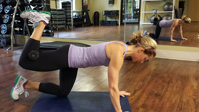 Weighted Hip Extension