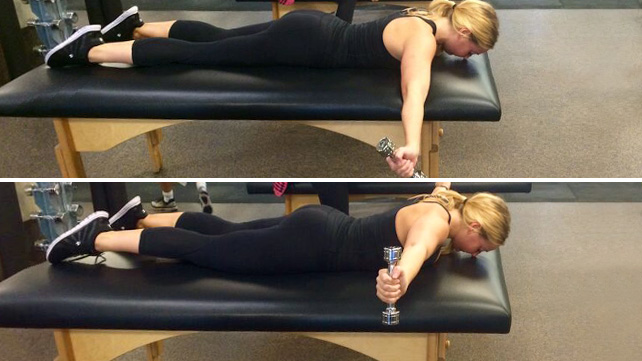 Prone lateral raise