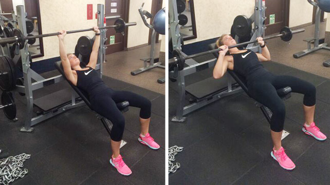 Flat bench press or incline images vs