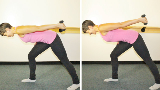 one weight lift barre exercise