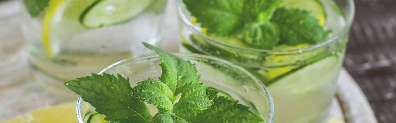 Cucumber ginger lemonade