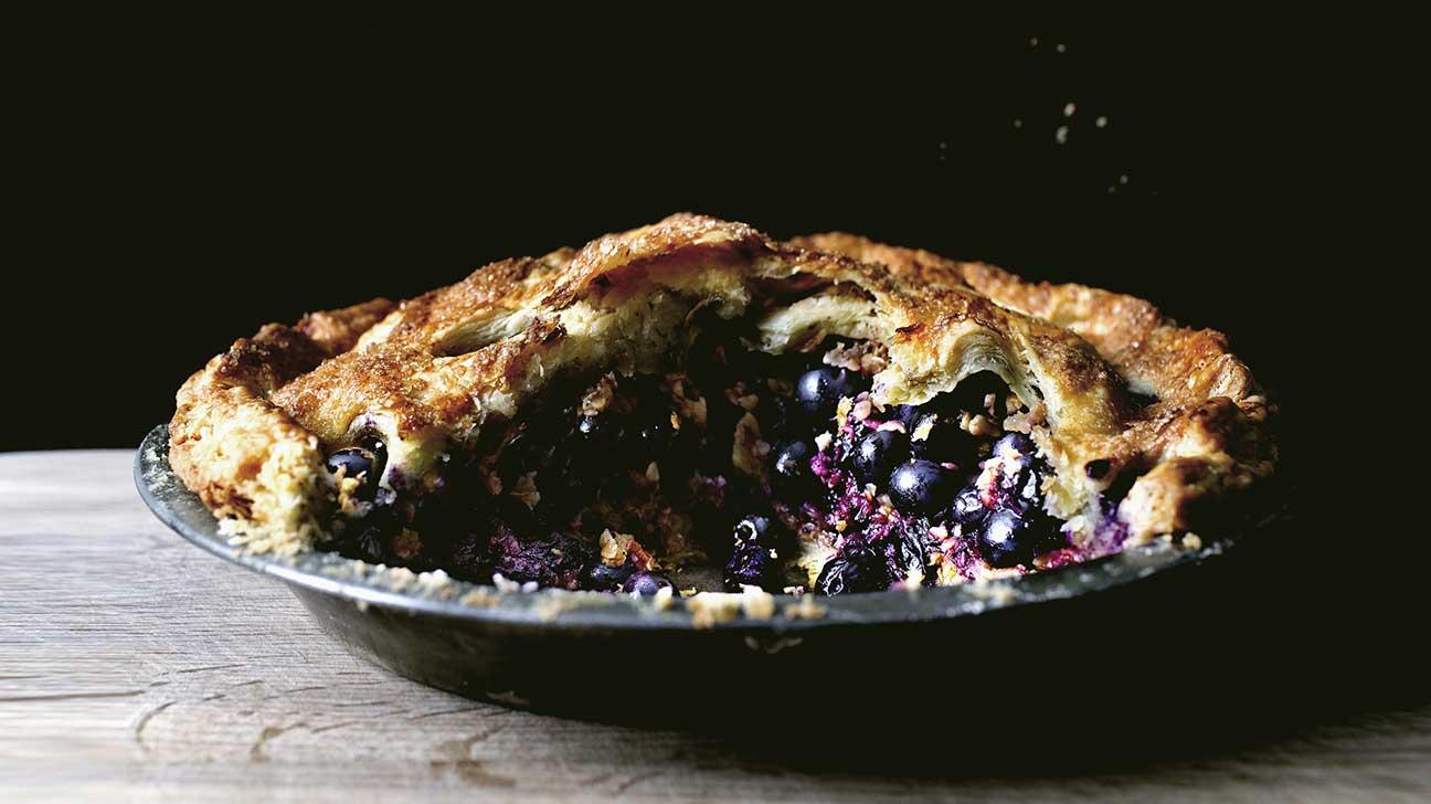 Sichuan Peppercorn Blueberry Oatmeal Pie