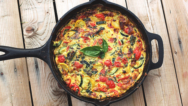 Making A Frittata Is A Great Way To Take Advantage Of A Bountiful Vegetable  Garden Harvest. This Frittata Recipe Combines Fresh Eggs With Summer  Squash, ...