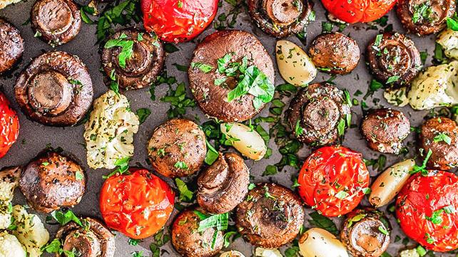 Italian-roasted mushrooms