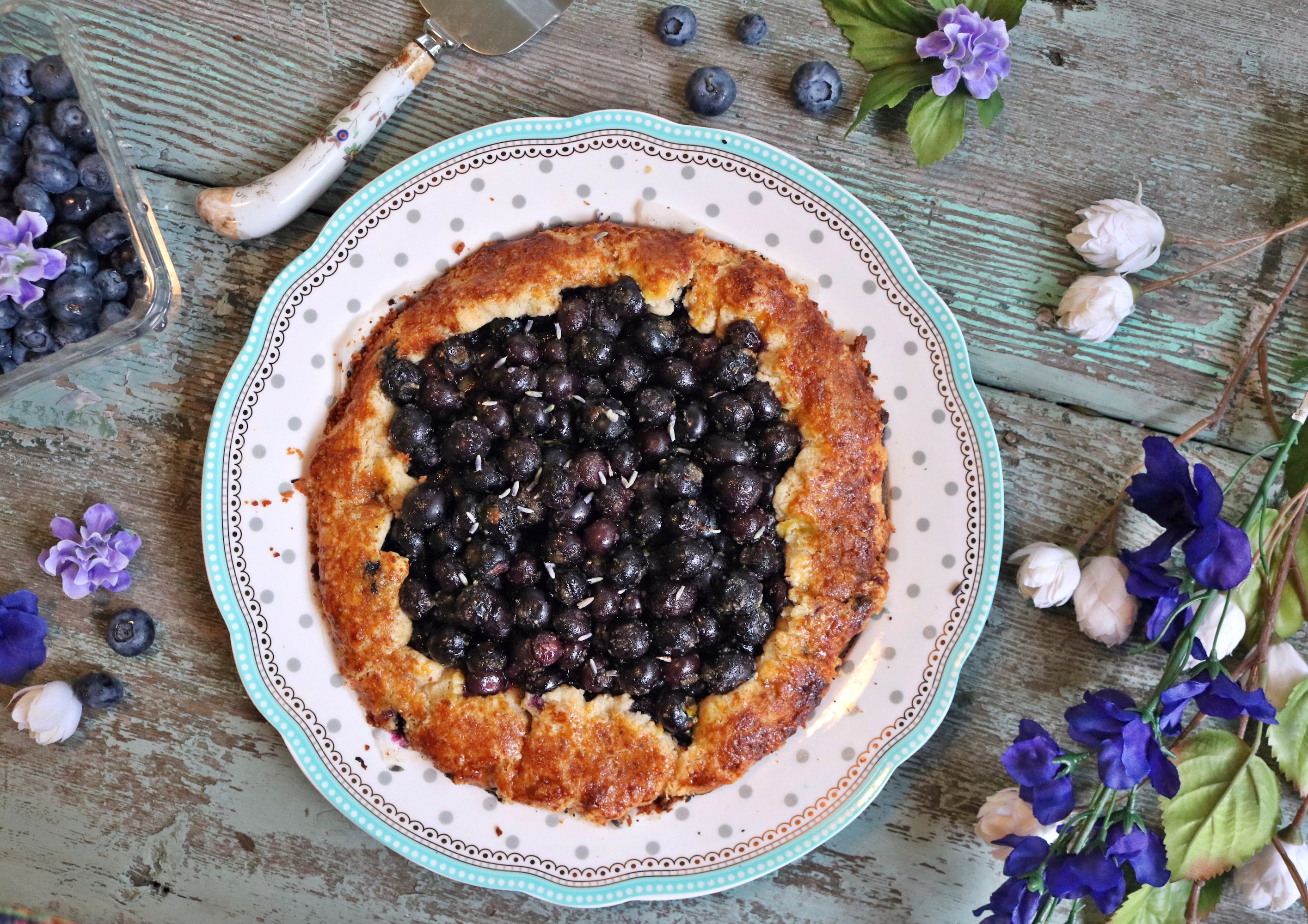 Blueberry, Lemon, and Lavender Galette