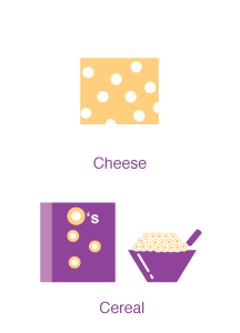 cereal and cheese
