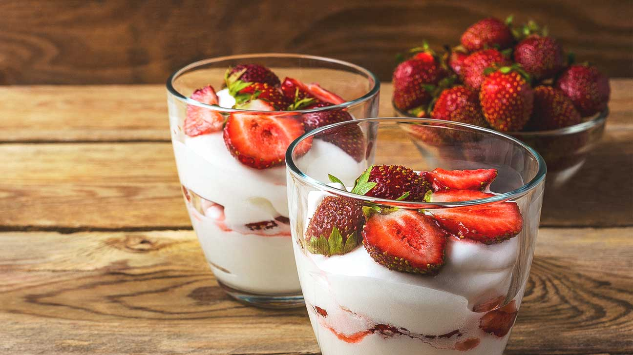 Ricotta with berries