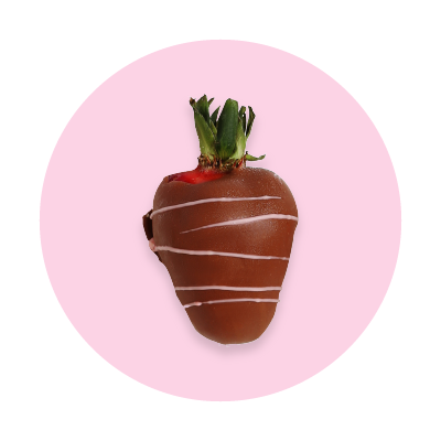 Hand-dipped love: Gourmet dipped swizzled strawberries