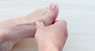 gout foot pain
