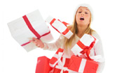 woman with holiday packages