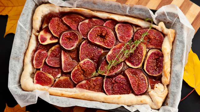 fig tart fruit dessert