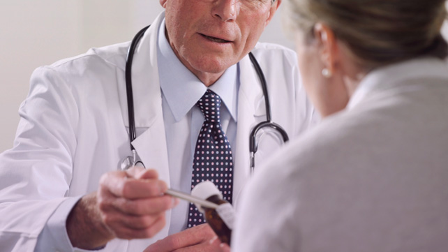 doctor talking to patient about pcsk9 inhibitors