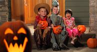 kids in costume