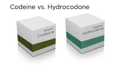 codeine vs hydrocodone