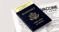 passport and vaccine notice