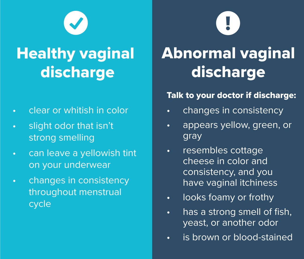 fluid vaginal discharge that appliance