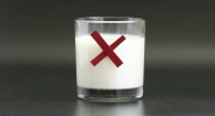 glass of milk with a red x