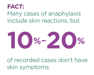anaphylaxis skin reaction fact