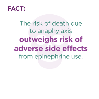 anaphylaxis epinephrine dangerous fact