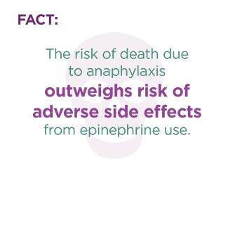 anaphylaxis epinephrine dangerous fact