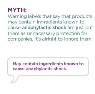 anaphylactic shock myth