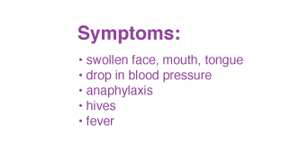 dried fruit allergy symptoms