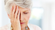 woman with COPD headache