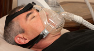 man with copd using cpap