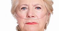 elderly woman with oxygen