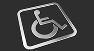 An ADA disability sign.