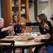 Hot in Cleveland cast ||Hot in Cleveland cast (L-R) Betty White, Wendy Malick, Jane Leeves, and Valerie Bertinelli.