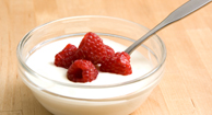 Probiotic yogurt and berries