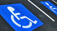 disability sign on parking lot