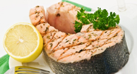 A salmon steak
