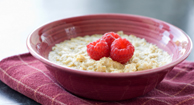 A bowl of oatmeal is a heart-healthy breakfast.