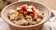 Fruity Steel-Cut Oatmeal with Glazed Pecans Breakfast Recipe