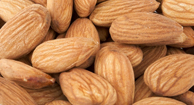 Almonds contain good fat.