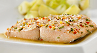 Sea bass is a great heart-healthy dinner option.