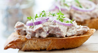 Tuna tartine is a creative lunch option.