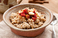 Fruity oatmeal.